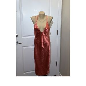 Express silly copper colored dress